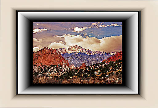 Pike's Peak in Float Mat by Richard Risely
