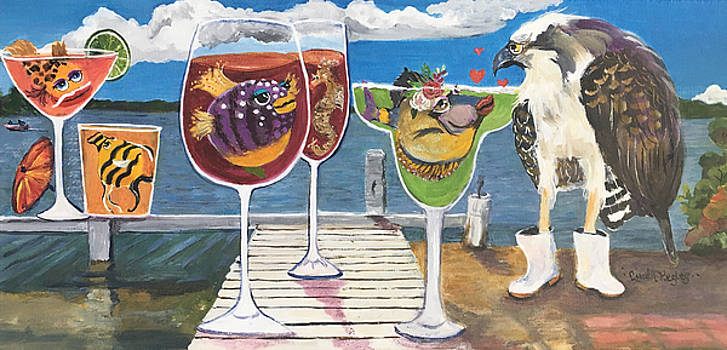 Pine Island Dock Party by Linda Kegley