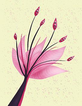 Pink Abstract Lily Flower by Boriana Giormova