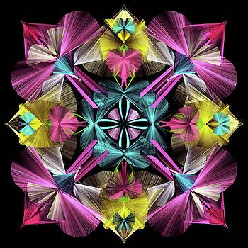 Pink Beauty-Mandala by Grace Iradian