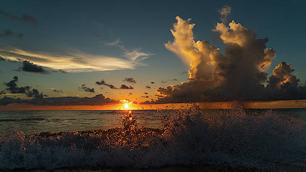Pink Crystal Splash Sunrise 1 Delray Beach Florida by Lawrence S Richardson Jr