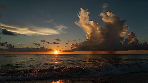 Pink Crystal Splash Sunrise 2 Delray Beach Florida by Lawrence S Richardson Jr
