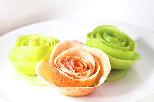 Pink Lady Apple Roses by Iris Richardson