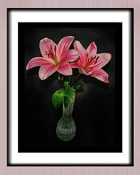 Pink Lillies by Richard Risely