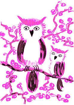 Pink owls by Steve Clarke