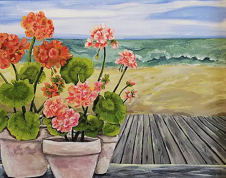 Pink Pots by Susan E Hanna
