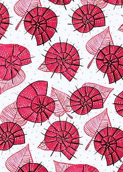 Pink Snails Pattern by Boriana Giormova