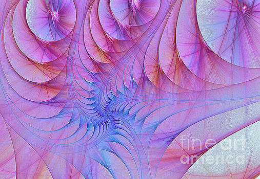 Pink  and  Blue Swirls.. fractral by Elaine Manley