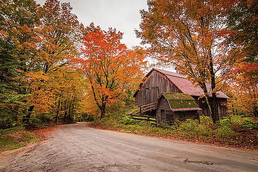 Pinkham Road Barn Fall by Tim Kirchoff