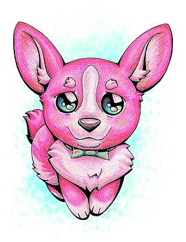 Pinkie Corgi by Sipporah Art and Illustration