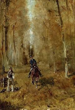 Pique et Boucheron - 1882 - PC - Painting - oil on panel by Henri de Toulouse-Lautrec