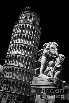 Pisa tower black and white by Delphimages Photo Creations