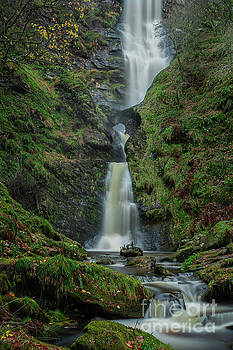 Pistyll Rhaeadr Waterfall by David MM Williams