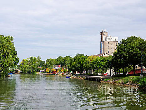 Pittsford New York on the Erie Canal by Louise Heusinkveld