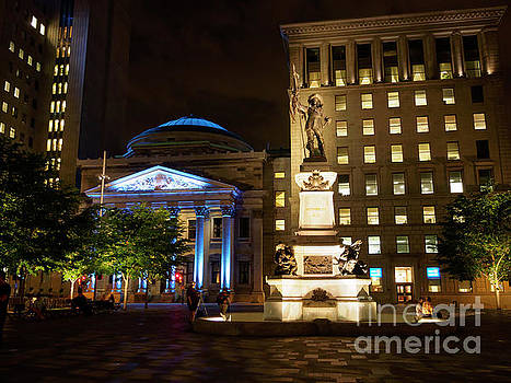 Place d'Armes in Old Montreal Quebec by Louise Heusinkveld