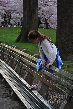 Playing in the Park - Central Park in Spring by Miriam Danar