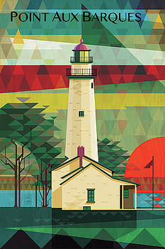 POINT AUX BARQUES Lighhouse by Garth Glazier