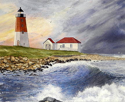 Point Judith Lighthouse by Lizbeth McGee