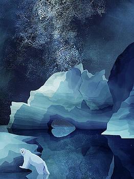 Polar Bear by night by Goed Blauw