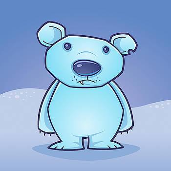 Polar Bear Cub by John Schwegel