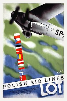Polish Air Lines Lot by Vintage Arts