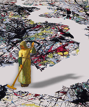 Pollock Clean Painting Parody Funny by Tony Rubino