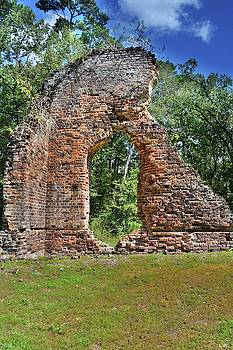 Pon Pon Chapel Of Ease Ruins Jacksonboro South Carolina by Lisa Wooten