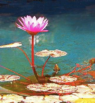 Sharon Williams Eng - Pond Flower Painting