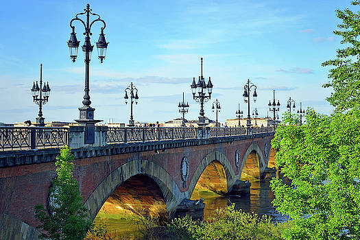 Pont de Pierre Bordeaux by Kathy Yates