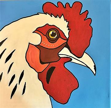 Pop Art Rooster by Roseann Amaranto