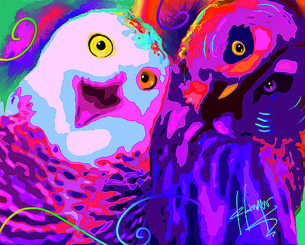 pOpOwls Jimmy Tallon and Owl Pacino. by DC Langer