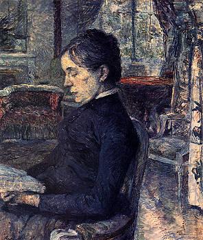 Porrait de la Comtesse A. de Toulouse-Lautrec dans le salon de Malrome - 1887 by Henri de Toulouse-Lautrec