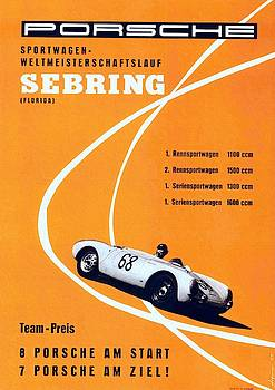 Porsche Sebring Vintage Racing Poster by Unknown