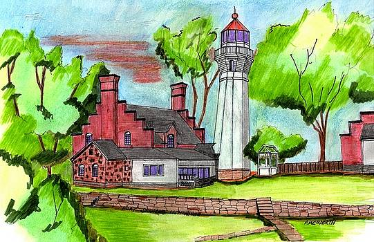 Port Sanilac Lighthouse by Paul Meinerth