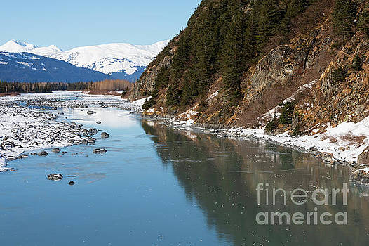 Portage Creek Portage Glacier Highway Alaska by Louise Heusinkveld