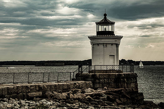 Portland breakwater lighthouse Maine by Jeff Folger