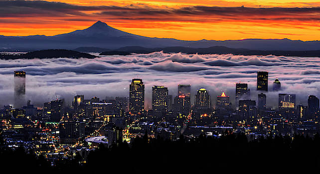 Portland Fog Waves by Wes and Dotty Weber