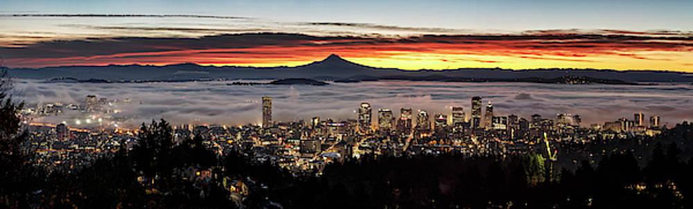 Portland Foggy Sunrise by Wes and Dotty Weber