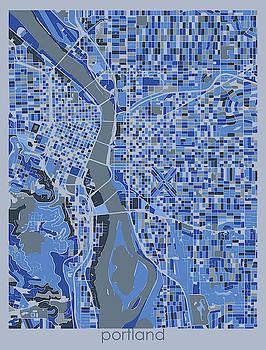 Portland Map Retro 5 by Bekim M
