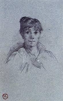 Portrait of a Woman - 1888 - PC - Drawing - pencil by Henri de Toulouse-Lautrec