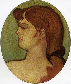 Portrait of a Woman of the House on the Rue d Amboise - 1892 - PC by Henri de Toulouse-Lautrec