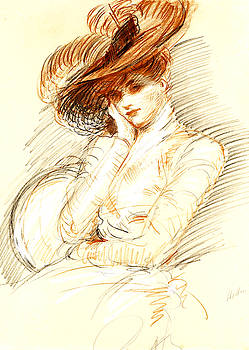 Portrait of Allice Helleu by Paul Cesar Helleu