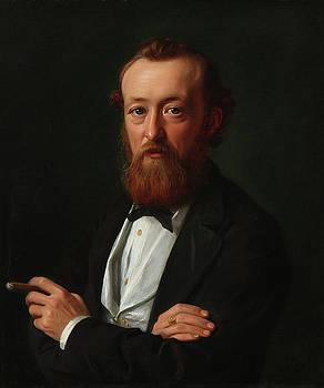 Portrait Of Captain, Later Consul In Bangkok, Frederik Kobke by Constantin Hansen