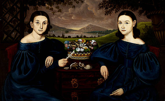 Portrait of Eliza Ann and Adelia Dusenberry by Orlando Hand Bears
