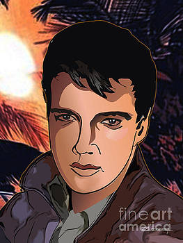 Portrait of Elvis Presley by Christian Simonian