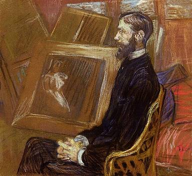 Portrait of Georges-Henri Manuel - 1891 - PC - Drawing - pastel by Henri de Toulouse-Lautrec