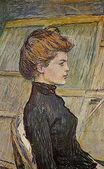 Portrait of Helen detail - 1888 - Musee Gustave Moreau - Paris - Painting - oil on canvas by Henri de Toulouse-Lautrec