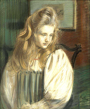 Portrait of Jessie Margery Dunthorne by Paul Cesar Helleu