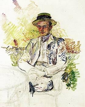 Portrait of Louis Pascal - 1887 - PC - Painting - oil on canvas by Henri de Toulouse-Lautrec