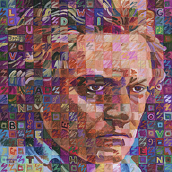 Portrait Of Ludwig Van Beethoven by Randal Huiskens